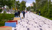Дорогу от метро до фан-феста перестроили в полноценный променад