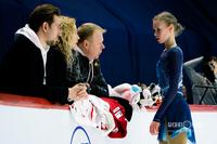 Майя Хромых с тренерами