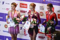 Алёна Косторная, Александра Трусова и Майя Хромых