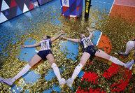 Волейболистки «Динамо» радуются Кубку России