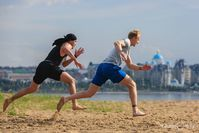 Хоккеисты Григорий Панин и Наиль Якупов готовятся к сезону на набережной в Казани