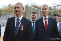 Президент РФС Александр Дюков и министр спорта РФ Олег Матыцин в Казани