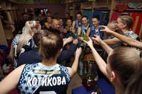 «Динамо» празднует победу в Суперкубке с руководителем аппарата президента РТ Асгатом Сафаровым